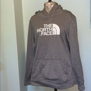 North Face Grey Hooded Sweatshirt Women's XL